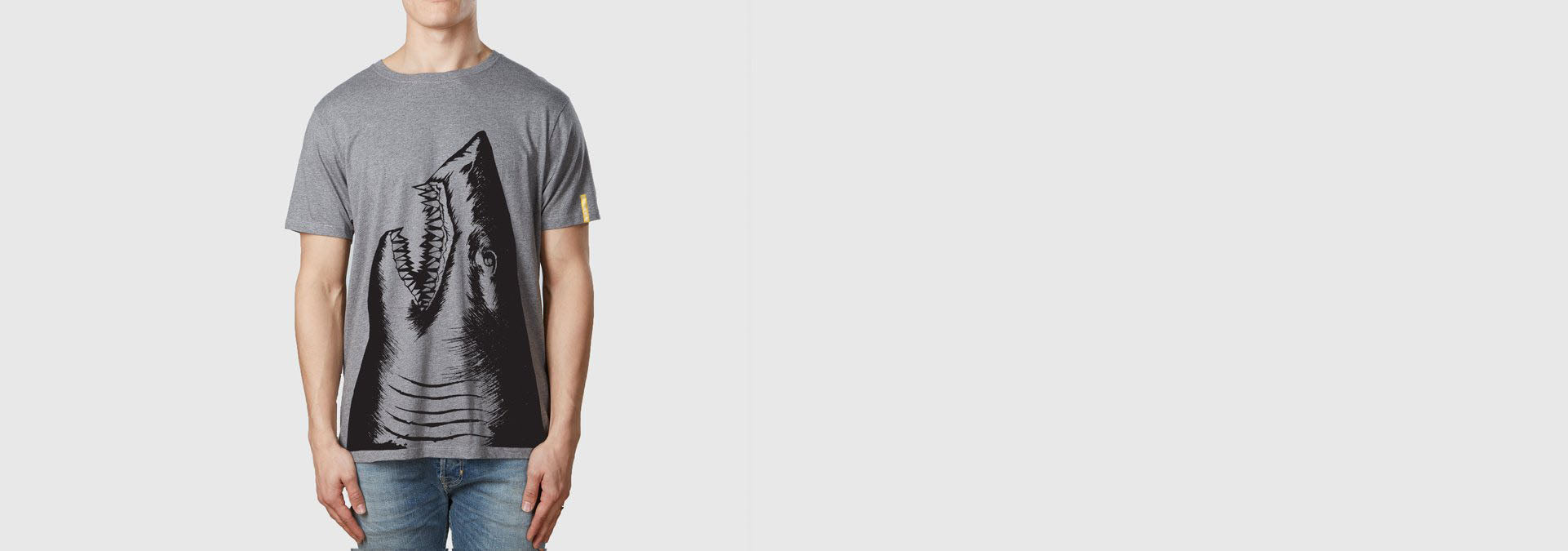 Shark T-Shirt Melange Grey