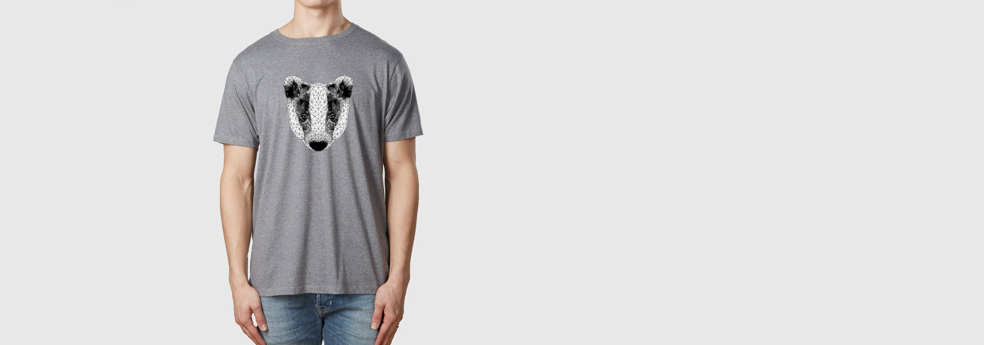 Badger T-Shirt Melange Grey
