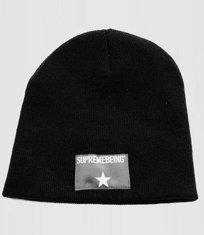 Stellar Label Beanie Black