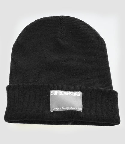 Supremebeing Label Beanie Black