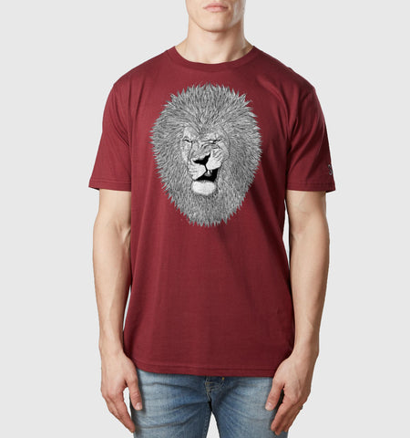 Lion Wink T-Shirt Burgundy