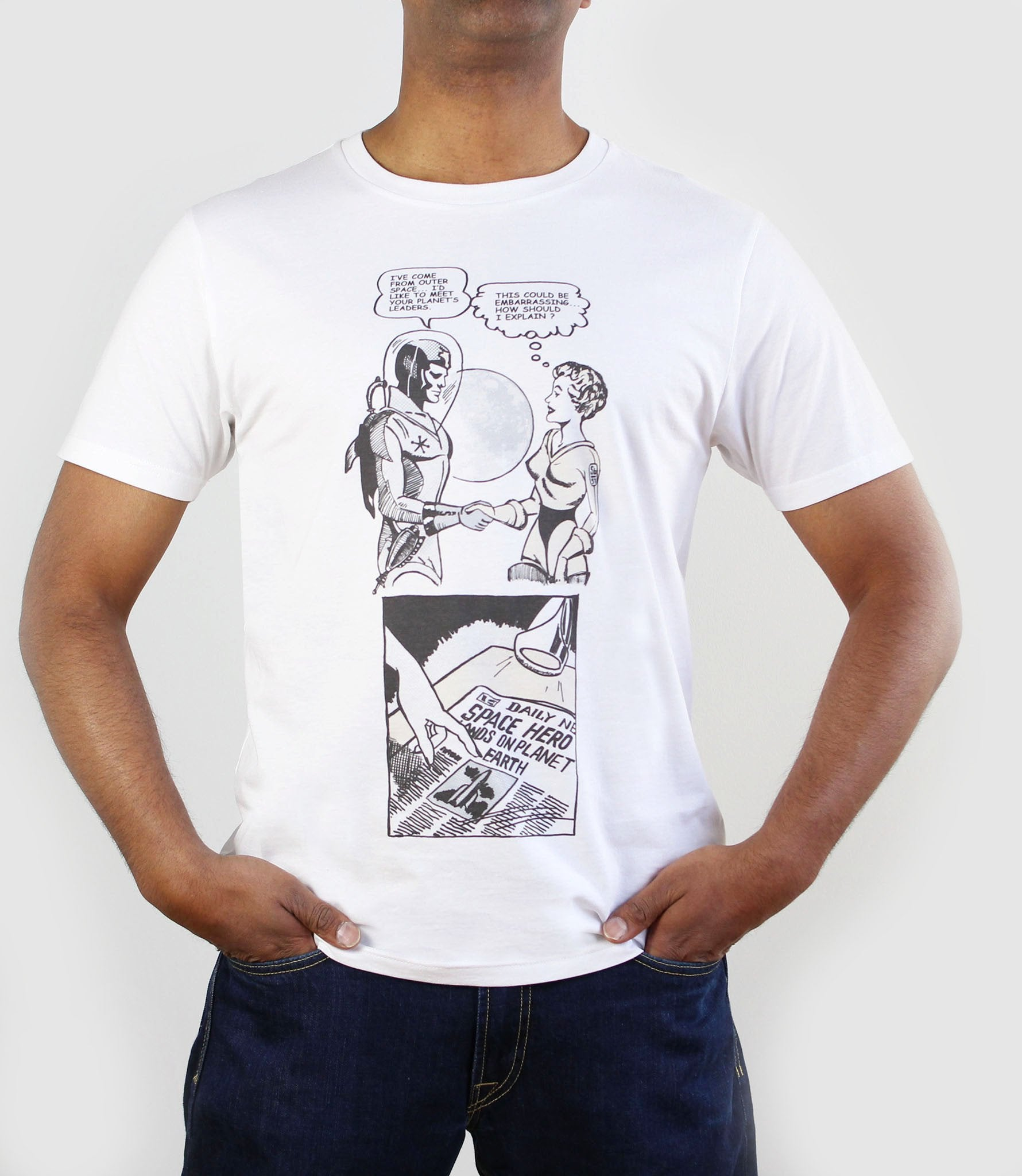 Space Hero One T-Shirt White