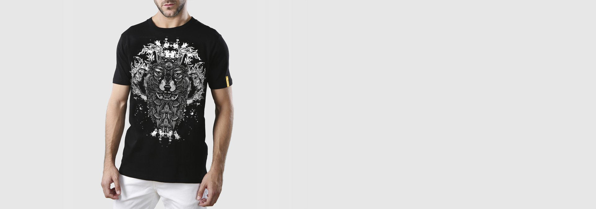 Wolf Tattoo T-Shirt Black