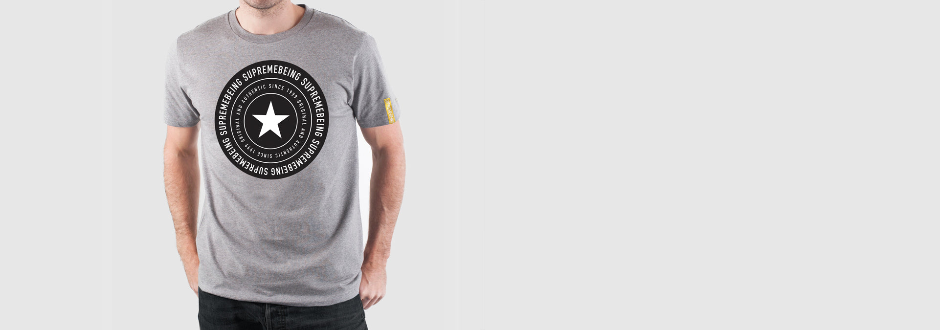 Star Round T-Shirt Melange Grey