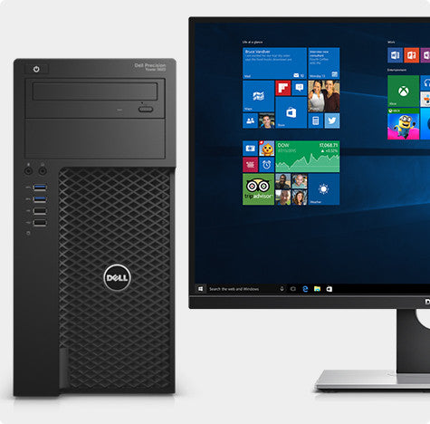 DELL Precision 3620 Windows 10 Pro( E3 - 1225 Intel Xeon 3.3GHz | 8GB | 1TB | DVDRW | 2GB NVidia Quadro K620 ) - Techstore