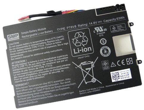 Dell 63WHr 8 Cell Battery for Alienware M11x R2 M14x M14x R2 Series P/N: T7YJR -01image