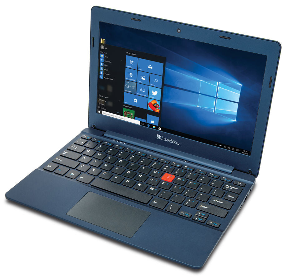 iBall CompBook- Notebook (Intel Atom- 2GB RAM- 32 GB eMMC- 11.6- Windows 10- Blue) - Techstore