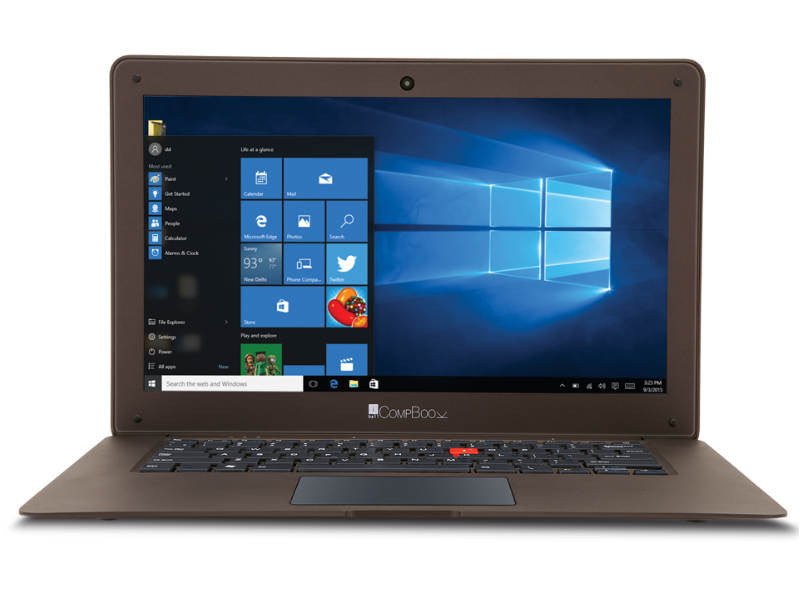 iBall CompBook- Notebook (Intel Atom- 2GB RAM- 32 GB eMMC- 14- Windows 10- Brown) - Techstore