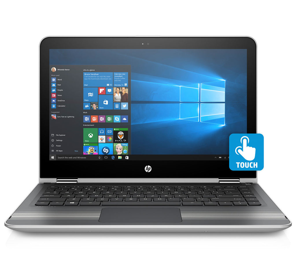 "HP Pavilion 13-U131TU X360 (7th Gen/ i3-7100U/ 4GB RAM / 1TB HDD/ INT / Windows 10 /Backlit Island KBD / 13.3"" Full HD Anti-glare/ MS Office H & S 2016)"