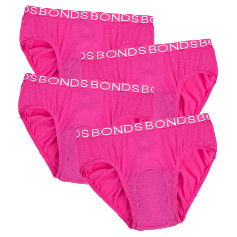 Girl's BONDS Hipster with incontinence pad (4 pack)