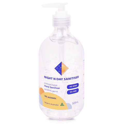 Night N Day Hand Sanitiser - 70% Alcohol Gel Solution - 500ml
