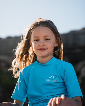 sustainable swim for kids, designed at, Bondi Beach, unisex swimwear, made from recycled ocean plastic