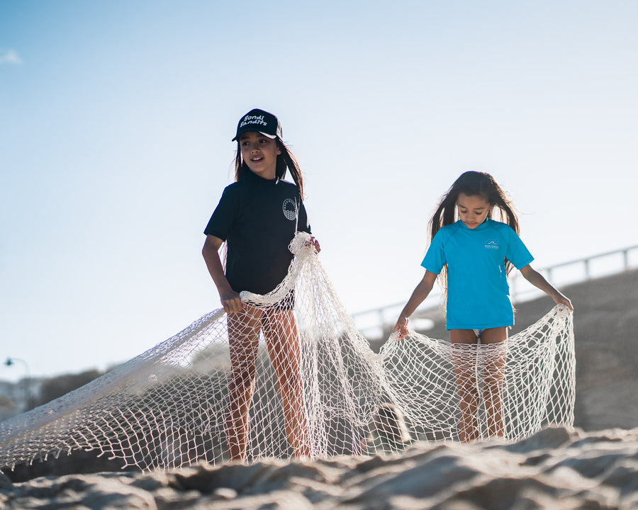sustainable swim for kids, designed at Bondi Beach, unisex swimwear, made from recycled ocean plastic