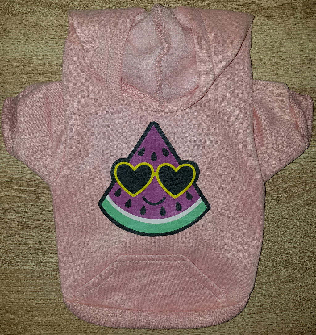 Watermelon Dog Hoodie - Pink - Dog Sweater - Dog Clothing