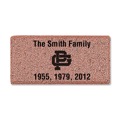 "4"" x 8"" Commemorative Logo Brick"