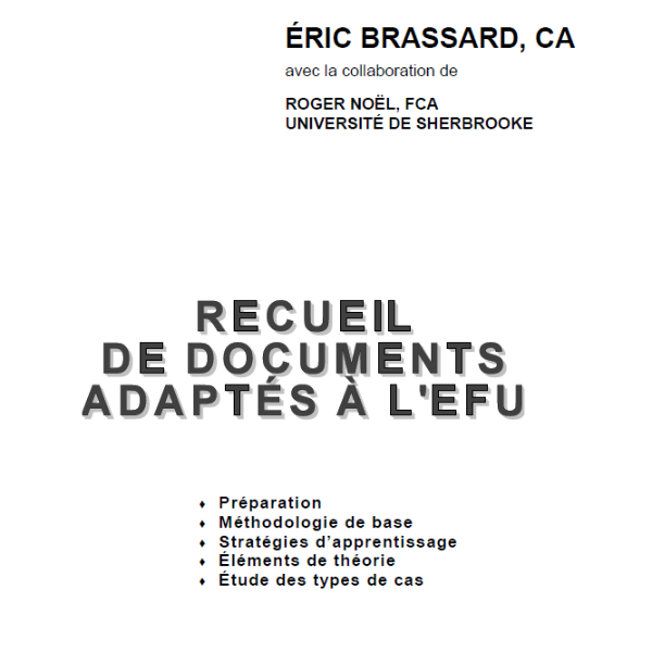Recueil de documents adaptés à l'EFU