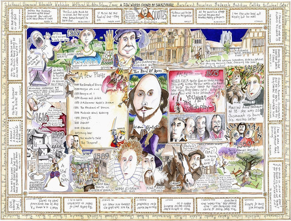 The Bard - Tim Bulmer 1000 Piece Jigsaw Puzzle