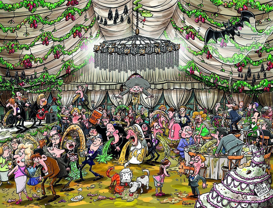 Chaos at the Wedding Reception 1000 or 500 Piece Jigsaw Puzzle