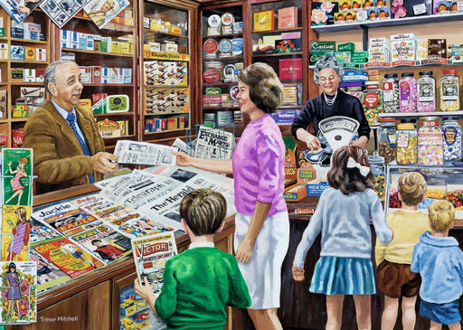Sweets and Newspapers 1000 piece jigsaw puzzle