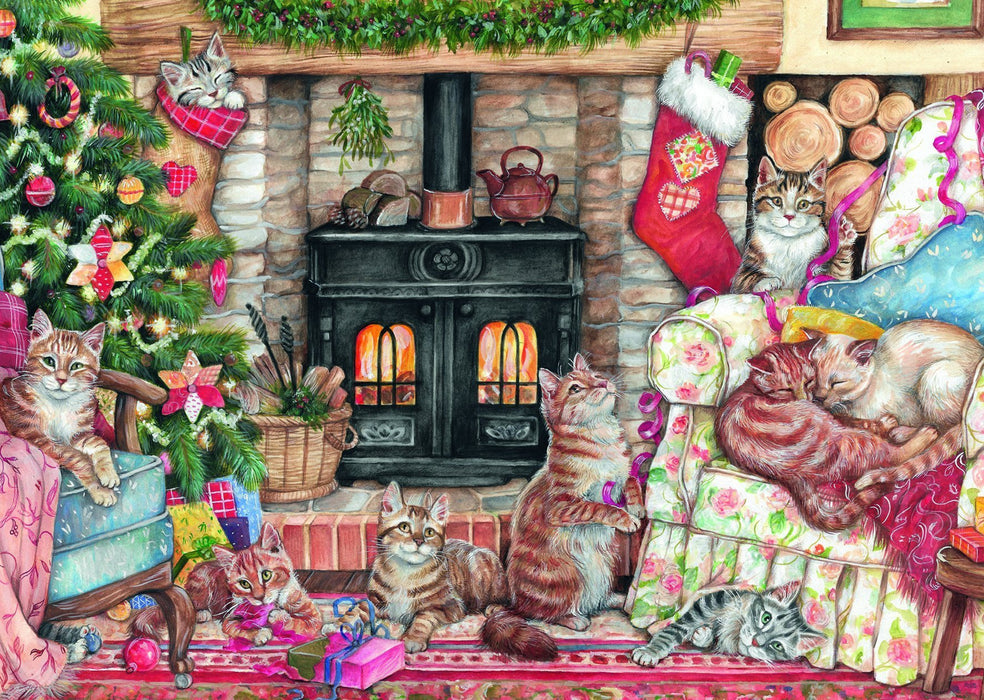 Christmas Cats 500 piece jigsaw puzzle