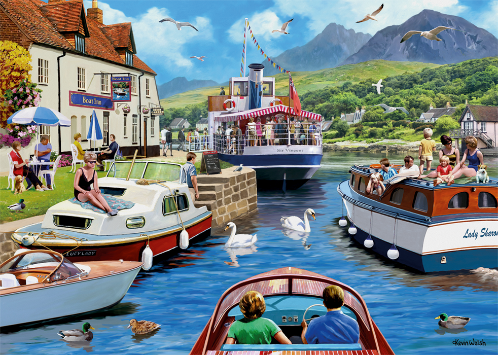 A Day on the River 1000 Piece Jigsaw Puzzle
