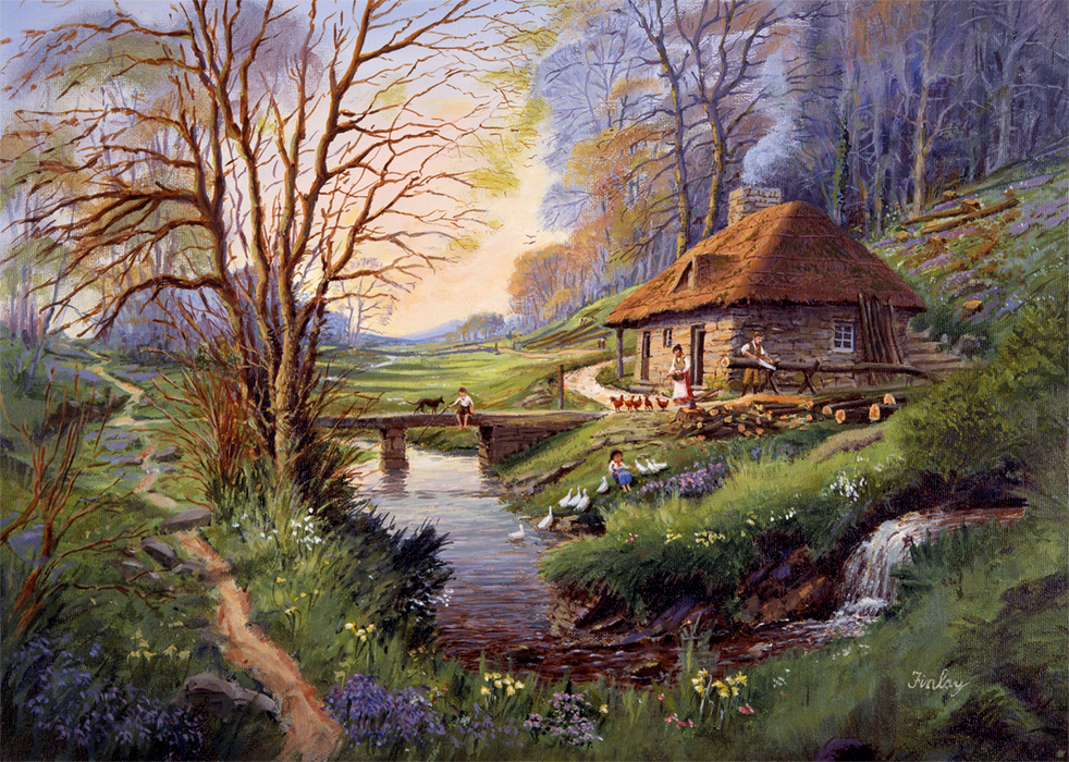 Cottage in the Woods 1000 Piece Jigsaw Puzzle