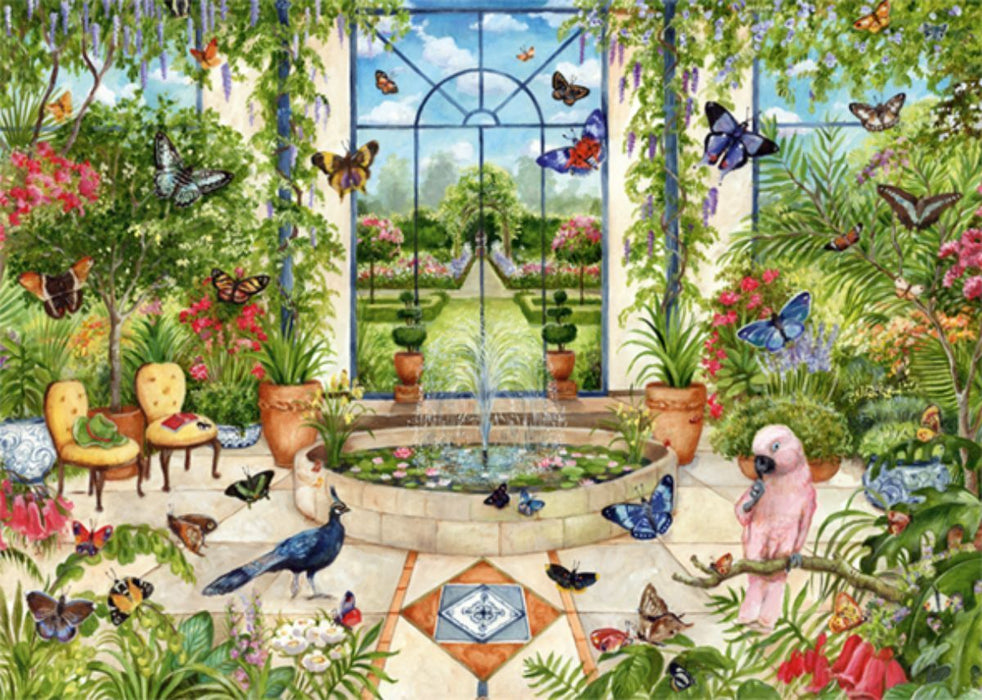 Butterfly Conservatory - Falcon de Luxe 1000 Piece Jigsaw Puzzle