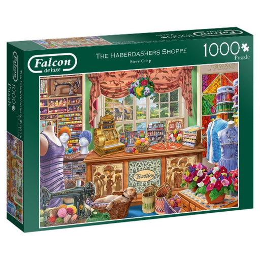 The Harberdasher's Shoppe - Falcon de Luxe 1000 Piece Jigsaw Puzzle