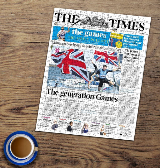 "Personalised ""The Times"" Front Page 400 Piece Jigsaw Puzzle"