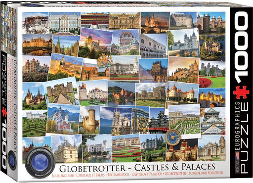 Globetrotter Castles + Palaces 1000 Piece Jigsaw Puzzle