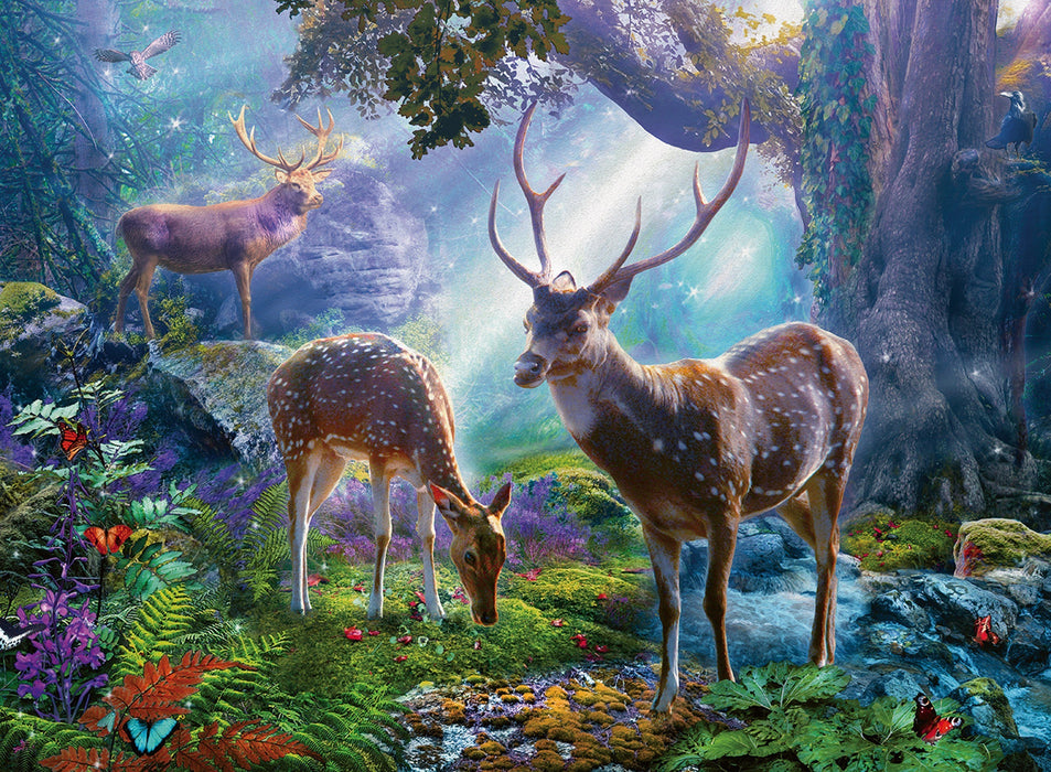 Deer in the Wild 500 Piece Jigsaw Puzzle