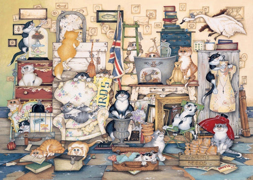 Crazy Cats - Go Salvage Hunting 1000 Piece Jigsaw Puzzle
