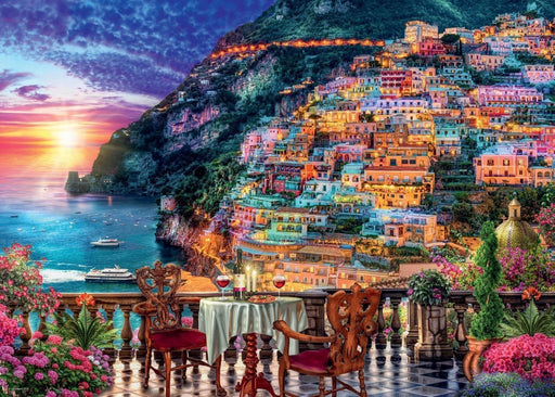 Dinner in Positano, Italy 1000 Piece Jigsaw Puzzle