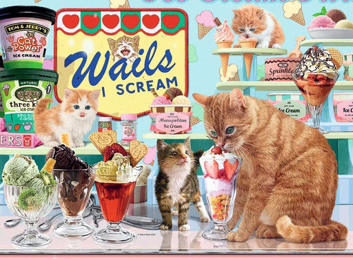 The Cat that got the Cream, 500 Piece Jigsaw