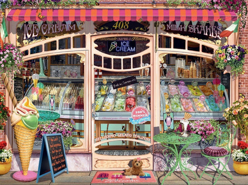 Ice Cream Shop 1500 Piece Jigsaw Puzzle - All Jigsaw Puzzles