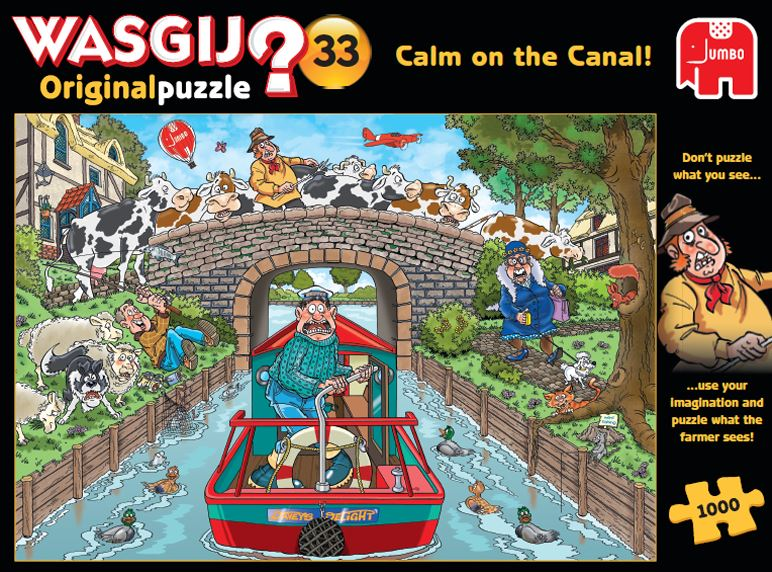 Wasgij Original 33 Calm on the Canal 1000 Piece Jigsaw Puzzle 2