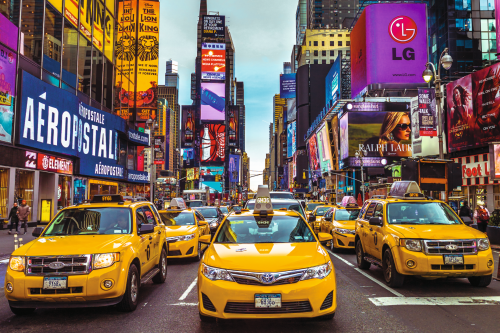 New York Taxis 1500 Piece Jigsaw Puzzle
