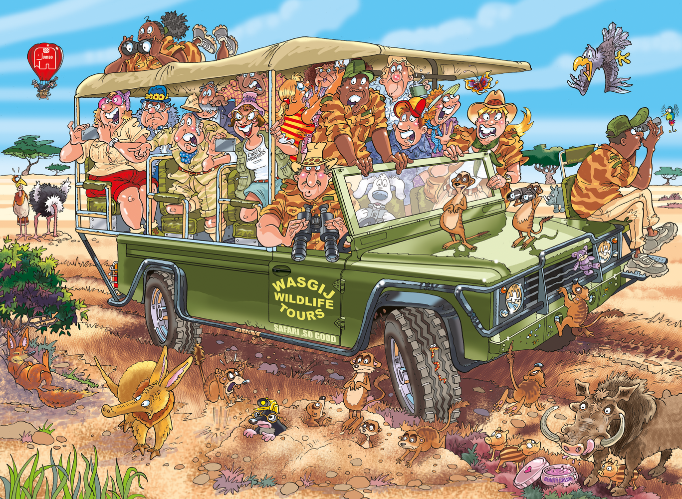 Wasgij Original 31 Safari Surprise! 1000 Piece Jigsaw Puzzle