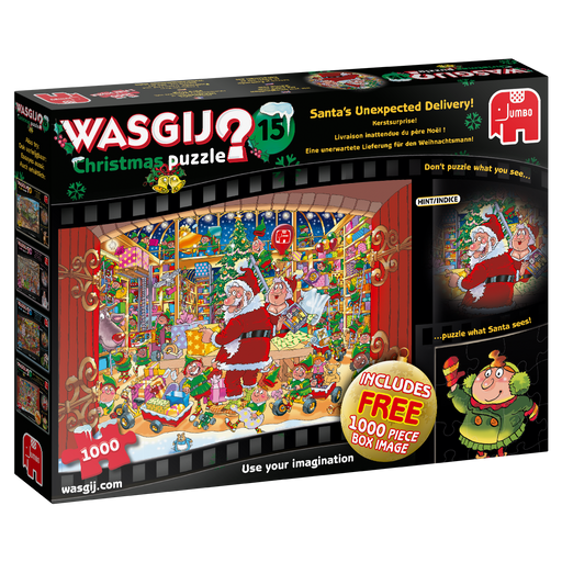 Wasgij Christmas 2019 - 15 'Santa's Unexpected Delivery!' 1000 Piece Jigsaw Puzzle