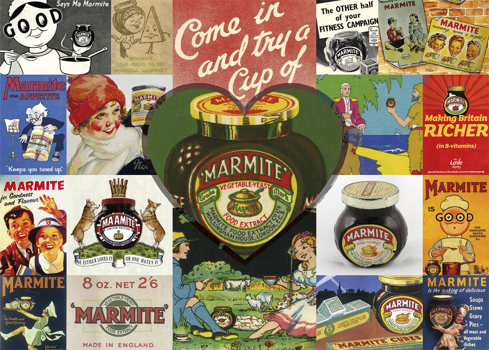 Gibsons Vintage Marmite 1000 piece Jigsaw Puzzle