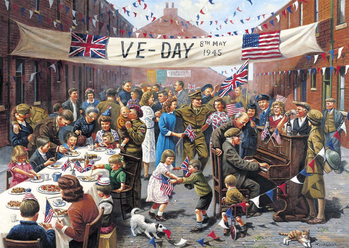 Gibsons VE Day 500 piece Jigsaw Puzzle