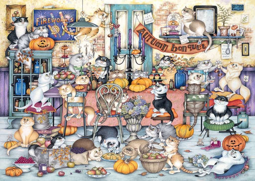 Crazy Cats - Autumn Banquet, 1000 Piece Jigsaw