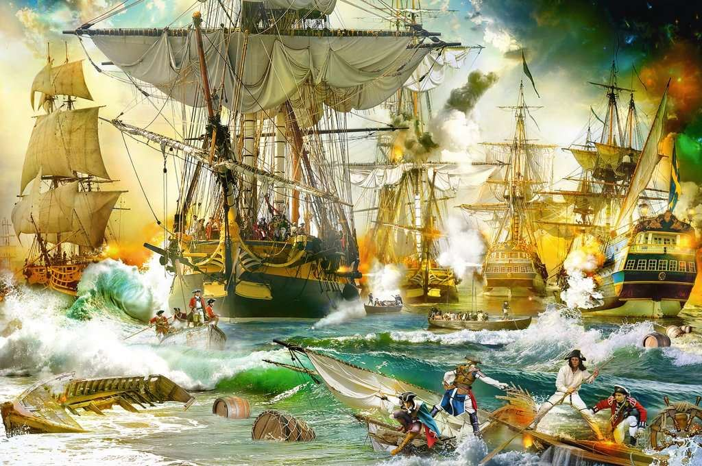 Battle on the High Seas 5000 Piece Jigsaw Puzzle