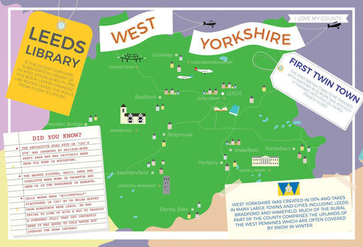 West Yorkshire - I Love My County 400 Piece Jigsaw Puzzle
