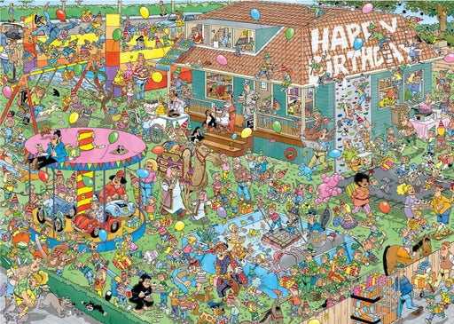 Children's Birthday Party - Jan Van Haasteren 1000 Piece Jigsaw Puzzle