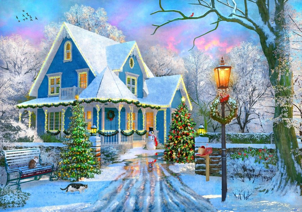Christmas at Home 1000 Piece Jigsaw Puzzle