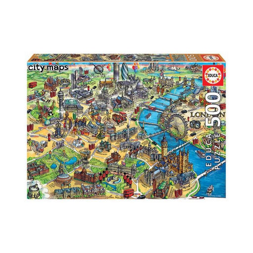 London City Map 500 piece Jigsaw Puzzle