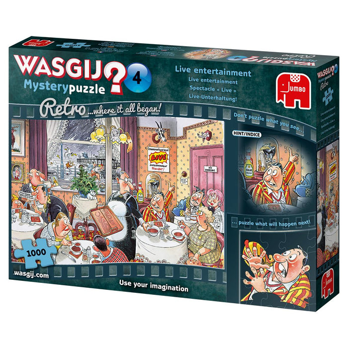 Retro Wasgij Mystery 4 Live Entertainment 1000 Piece Jigsaw Puzzle -2
