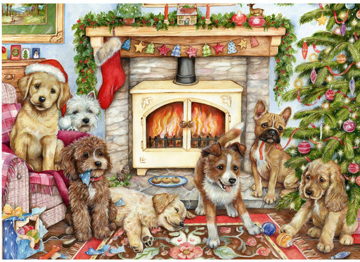 Falcon Christmas Puppies 500 Piece Jigsaw Puzzle