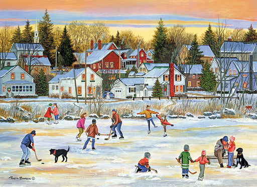 Evening Skating by Bourque 1000 Piece Jigsaw Puzzle